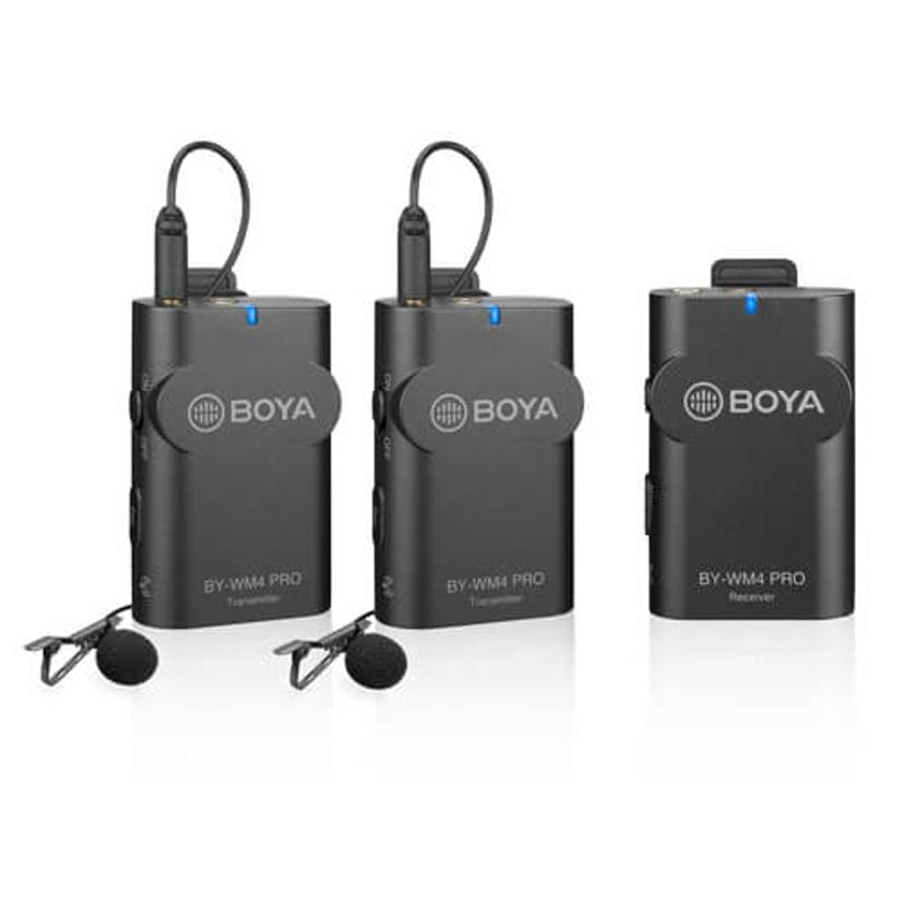 Boya BY-WM4 Pro K2 2-kanals Trådlös Digital Mikrofon Svart