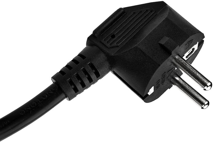 "Prokord 19"" grenuttak, 7 uttak, 2 m kabel, svart, V/A 7st CEE 7/3 strøm"