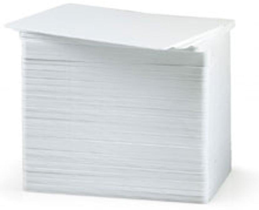 Zebra PVC-Kort Vitt (30 mil) 0,76mm - 500st