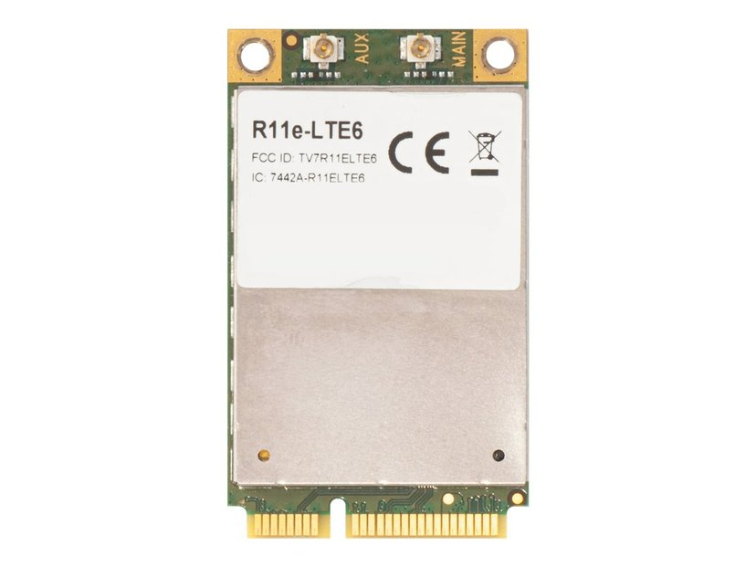 Mikrotik 2G/3G/4G/LTE mini PCIe card with carrier aggregation