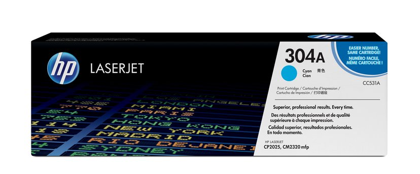 HP Värikasetti Syaani 304A 2.8K - CC531A