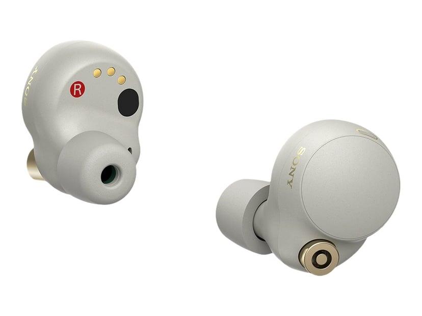 Sony WF-1000XM4 trådløse og støydempende ørepropper Sølv