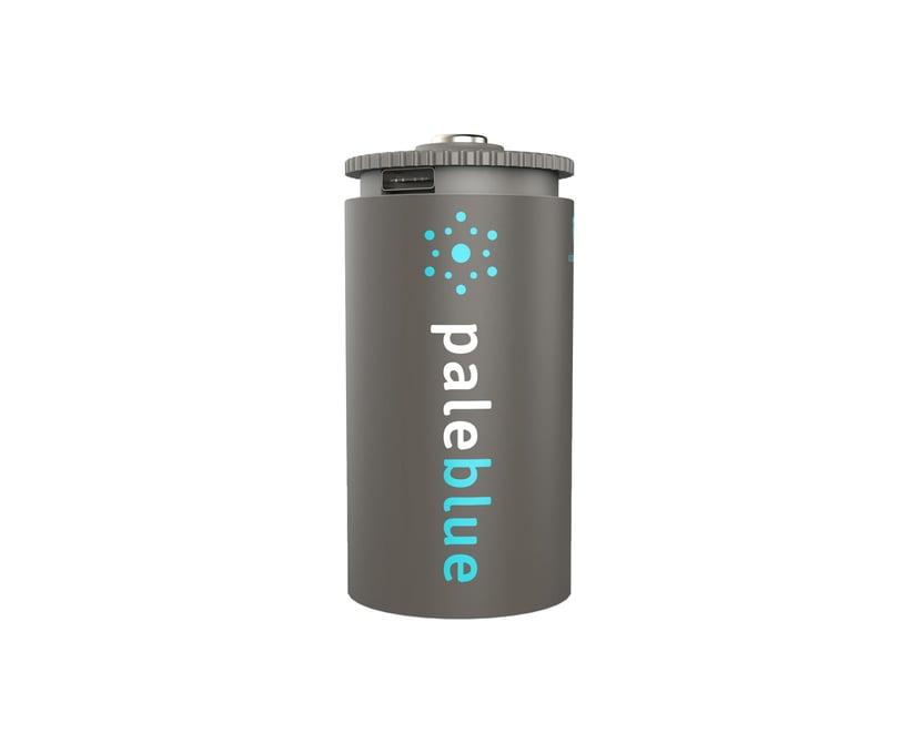 PALE BLUE Uppladdningsbart Batteri D 5000mAh 2-Pack Inkl 2x1 Laddningskabel