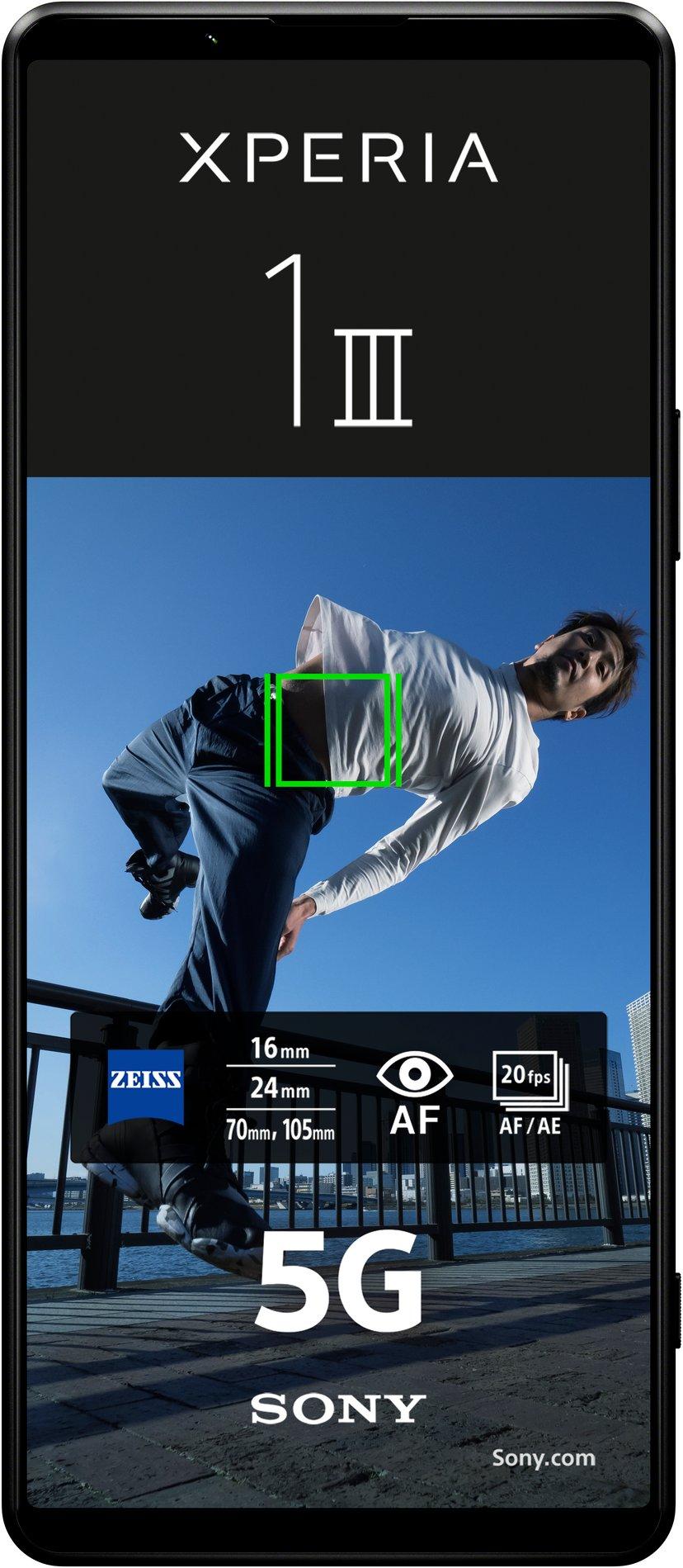Sony XPERIA 1 III 256GB Kaksois-SIM Musta