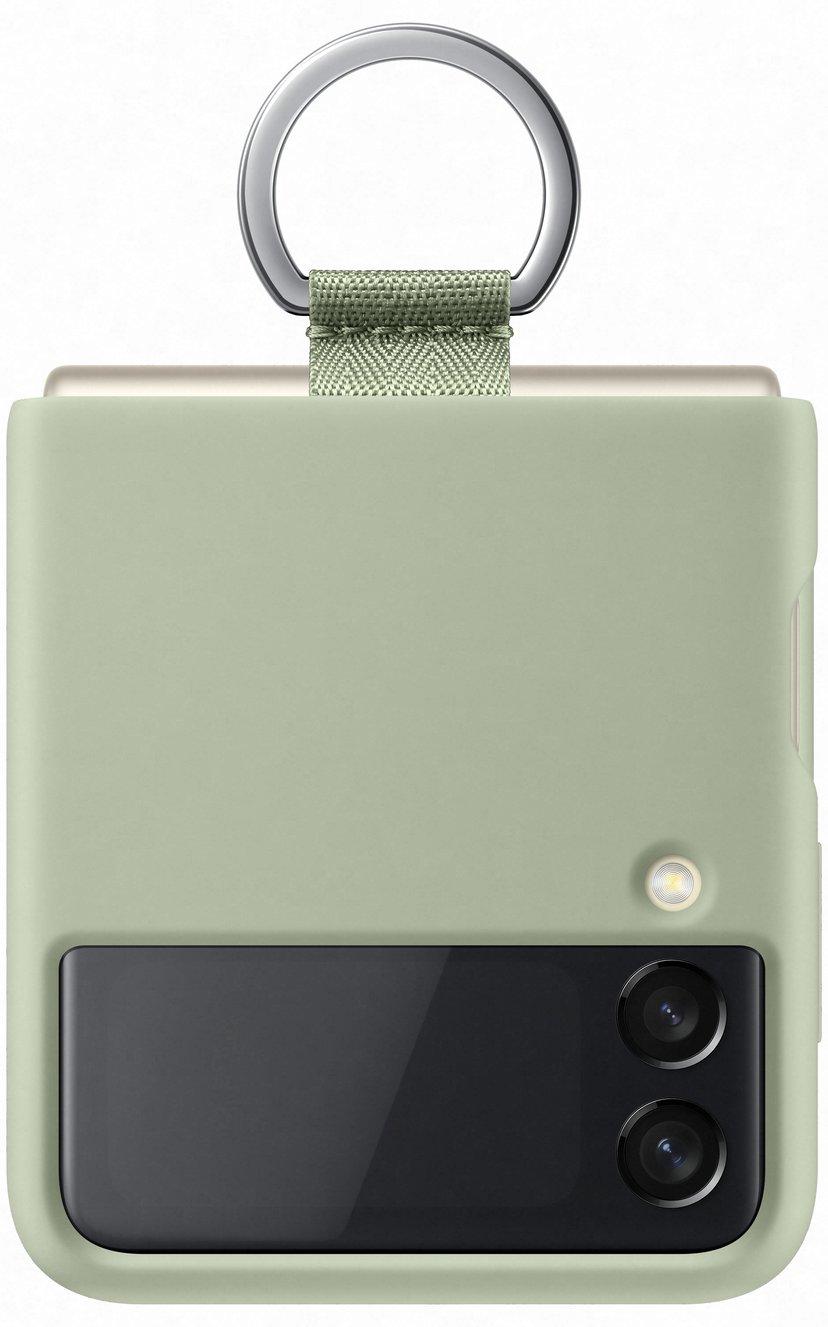 Samsung EF-PF926 Silicone Cover With Ring Samsung Galaxy Z Flip 3 Olivgrön
