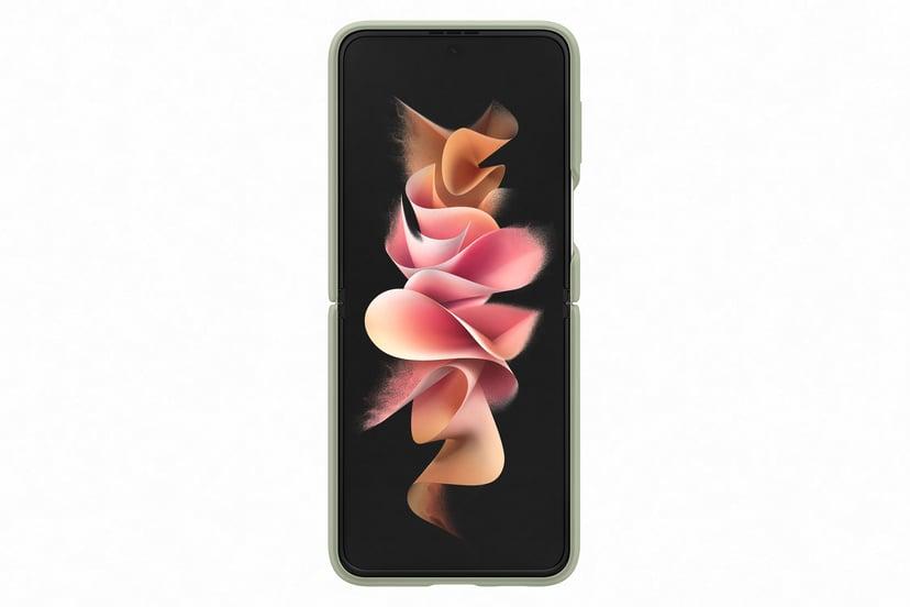 Samsung EF-PF926 Silicone Cover With Ring Olivgrön Samsung Galaxy Z Flip 3