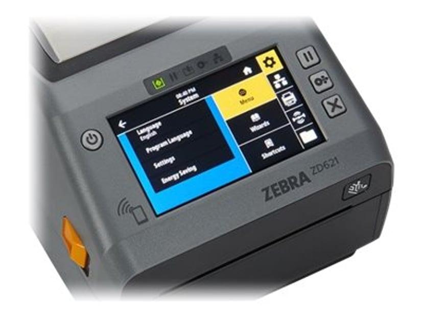 Zebra ZD621D Färgskärm 300dpi USB/Ethernet/BT5/RS232/802.11ac Row