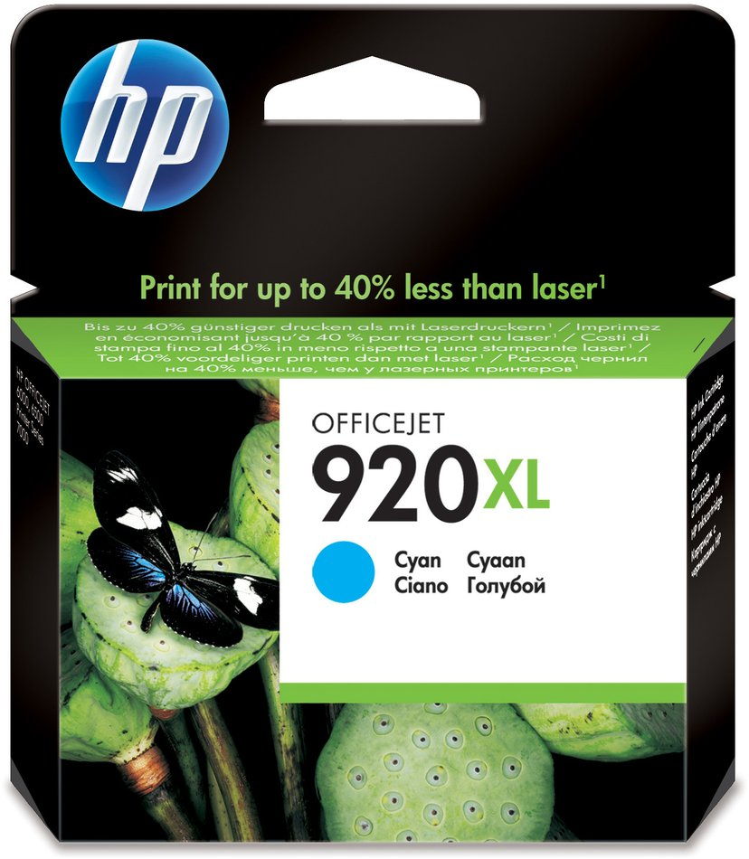 HP Blekk Cyan No.920XL - OfficeJet 6500