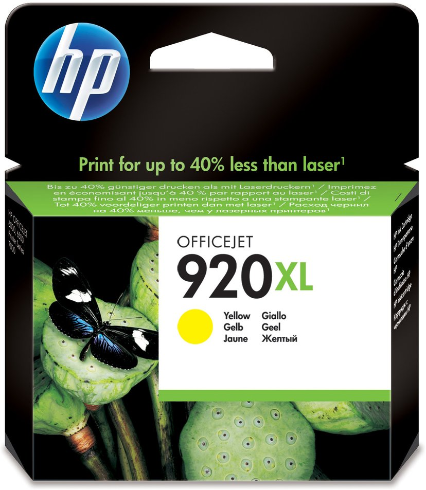 HP Muste Keltainen No.920XL - OfficeJet 6500
