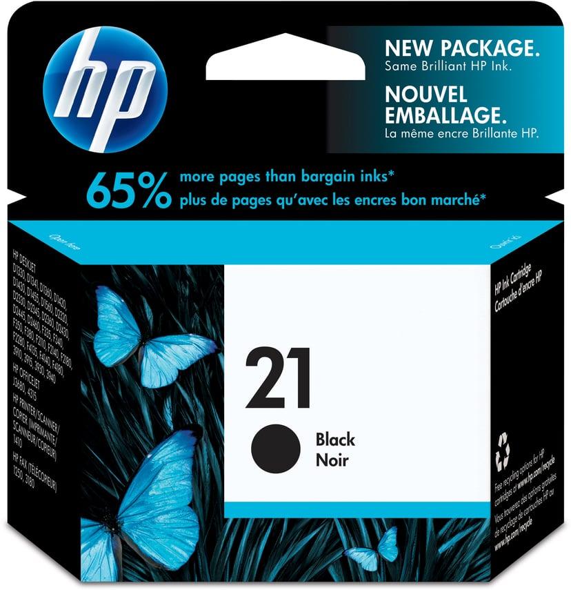 HP Blekk Svart No.21XL