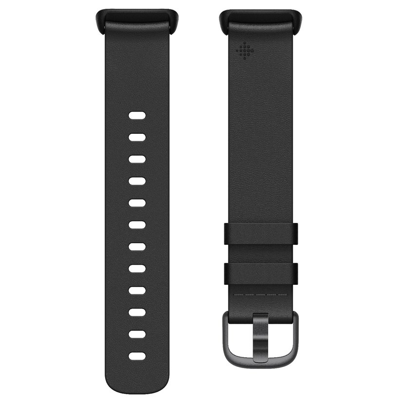 Fitbit Armband Leather Black Small - Charge 5