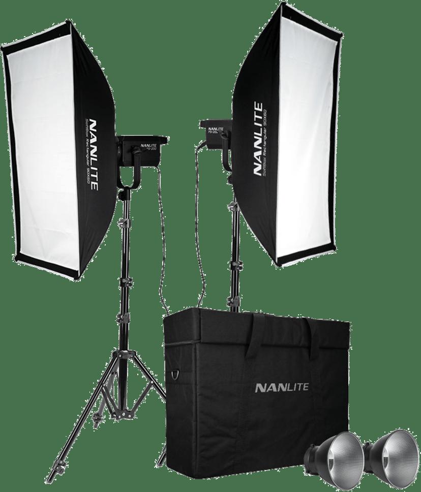 NANLITE FS-200 2-Light kit med stativ