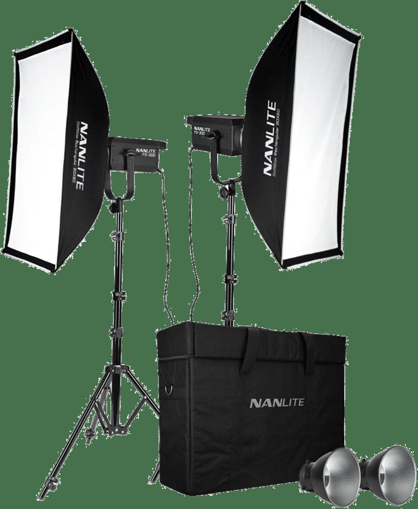 NANLITE Nanlite FS-300 2-Light studiosats med stativ