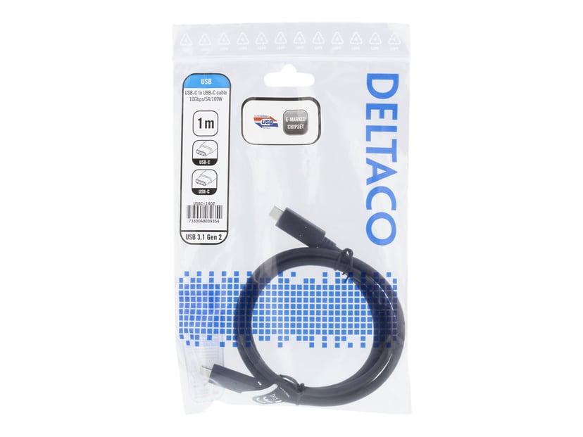 Deltaco USBC-1402 1m 24-stifts USB-C Hane 24-stifts USB-C Hane