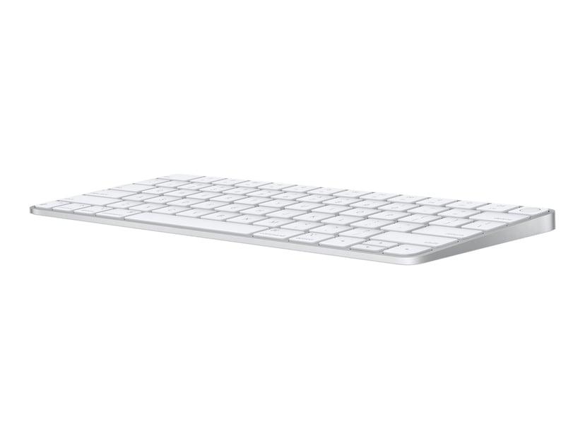 Apple Magic Keyboard with Touch ID Trådlös Tangentbord Amerikansk Silver, Vit