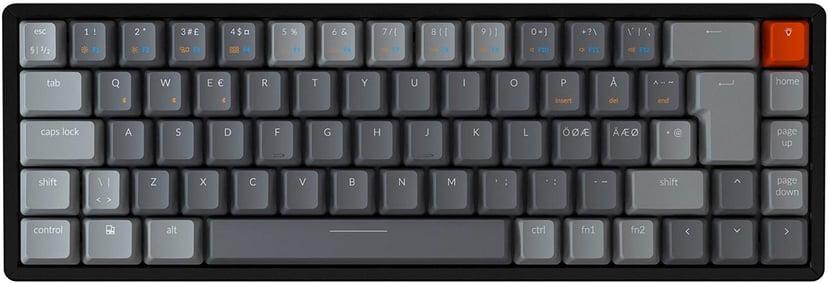 Keychron K6 RGB Aluminium Brown Tangentbord Kabelansluten, Trådlös Nordisk Svart