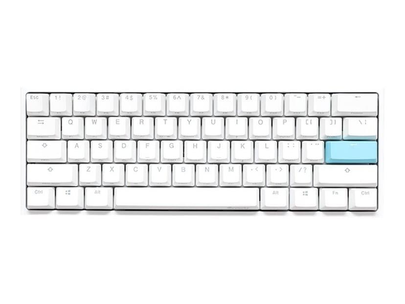 Ducky One 2 Mini Pure White Cherry Mx Red RGB 2020 Tangentbord Kabelansluten Nordisk Vit
