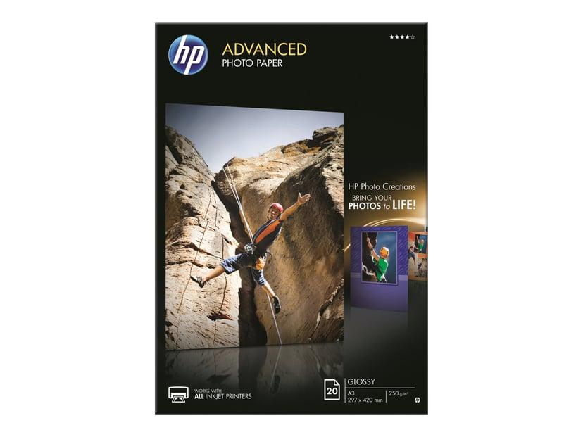 HP Papir Photo Advanced Glossy A3 20-Ark 250g