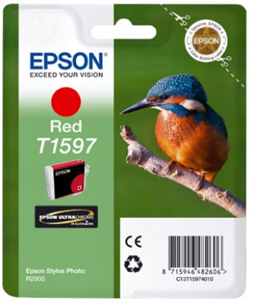 Epson Blæk Rød T1597 - R2000