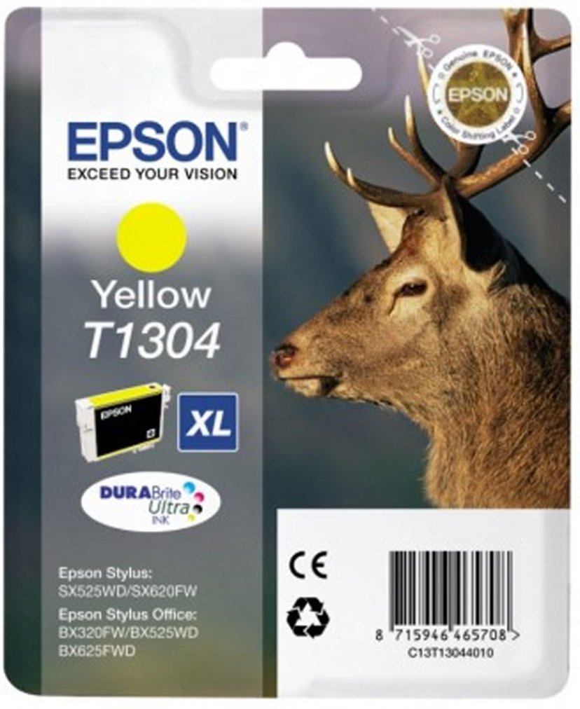 Epson Muste Keltainen T1304 - BX320FW