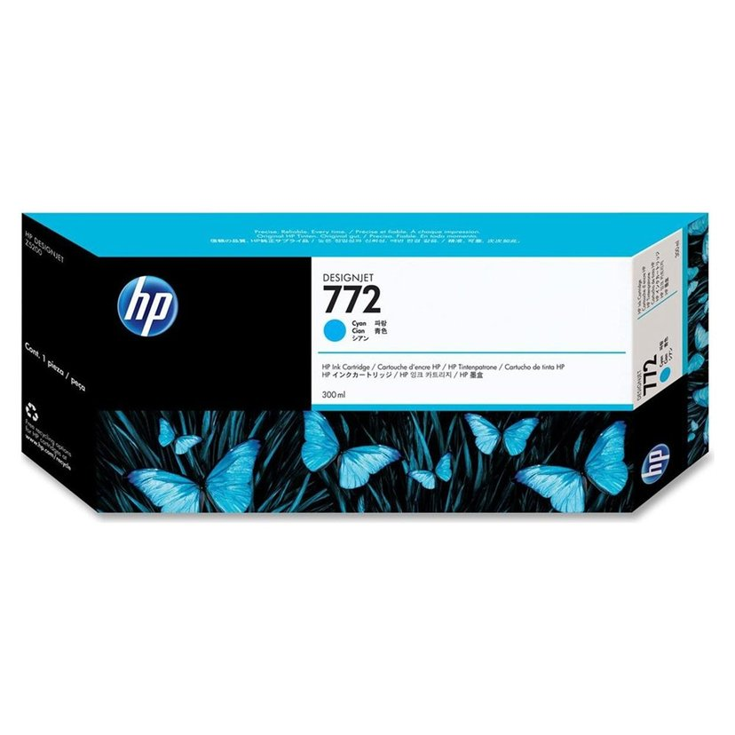 HP Blekk Cyan No.772 - DESIGNJET Z5200PS