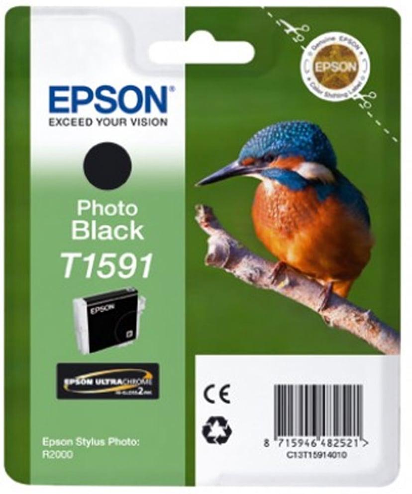 Epson Muste Kuva Musta T1591 - R2000