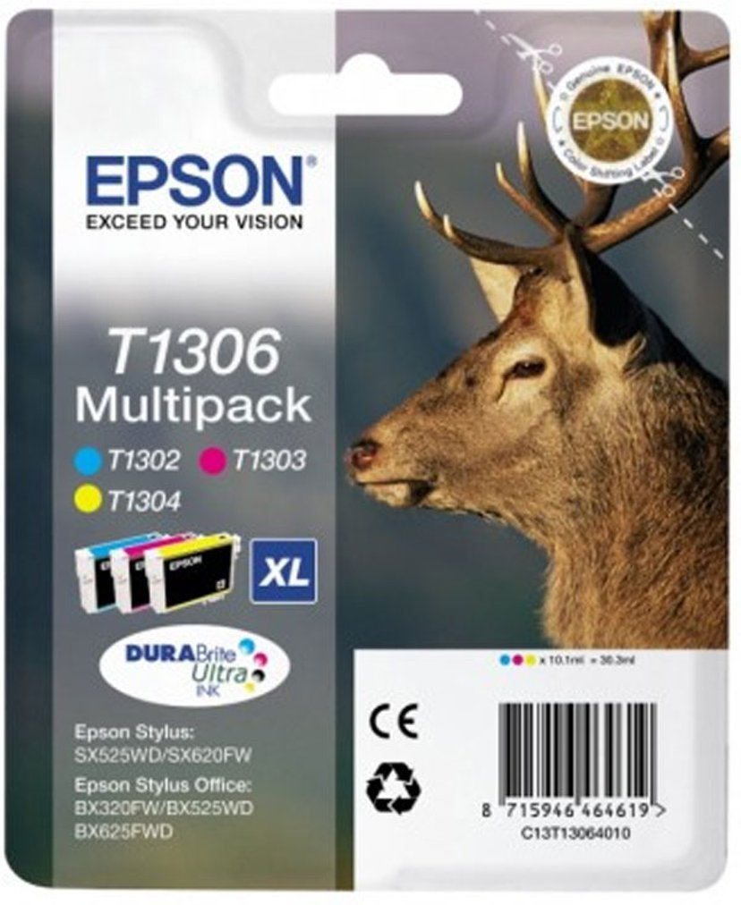 Epson Blæk Multipak 3-ColorS T1306 - BX320FW