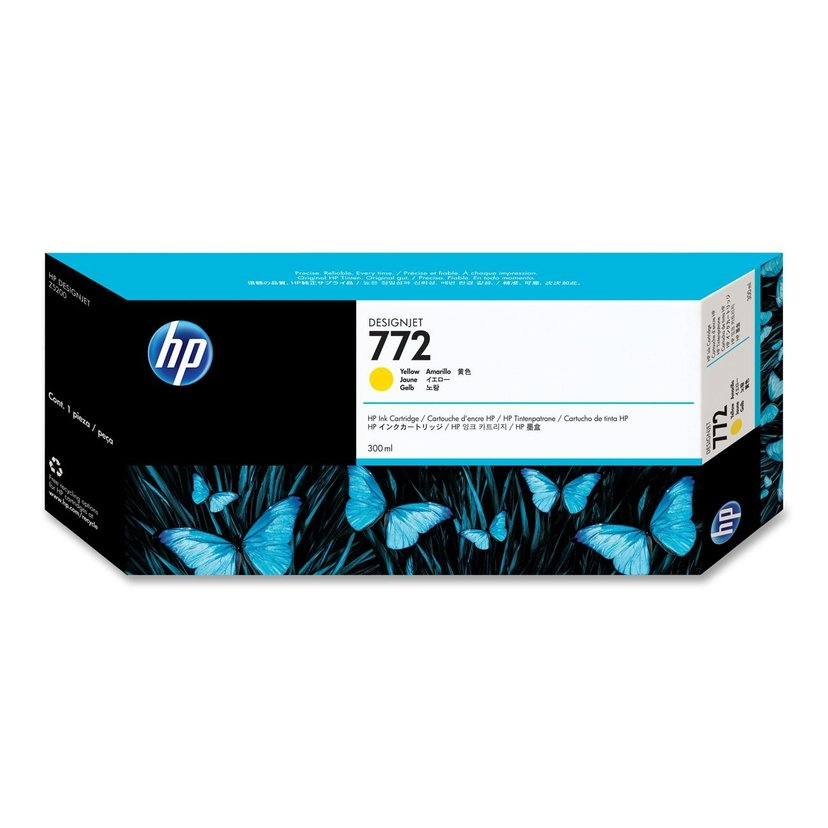 HP Blekk Gul No.772 - DESIGNJET Z5200PS