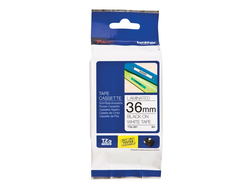 Brother Tape TZe-261 36mm Svart/Vit