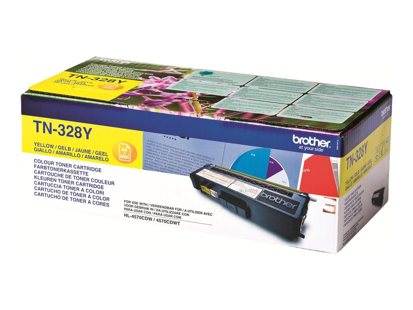 Brother Toner Gul TN-328Y 6k - HL-4570CDW