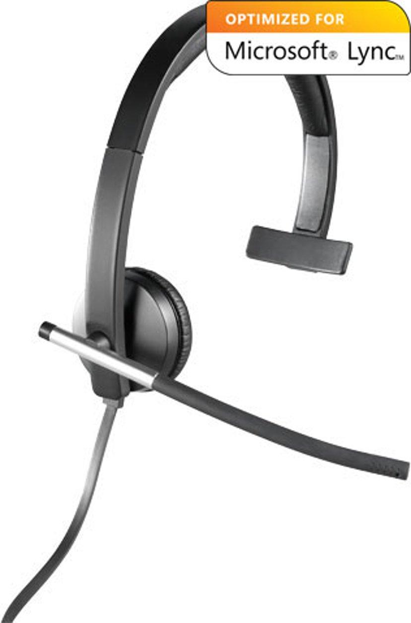 Logitech USB Headset Mono H650e Sort