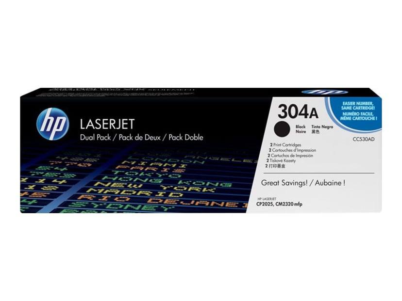 HP Toner Svart 3.5K - CC530AD 2-Pack