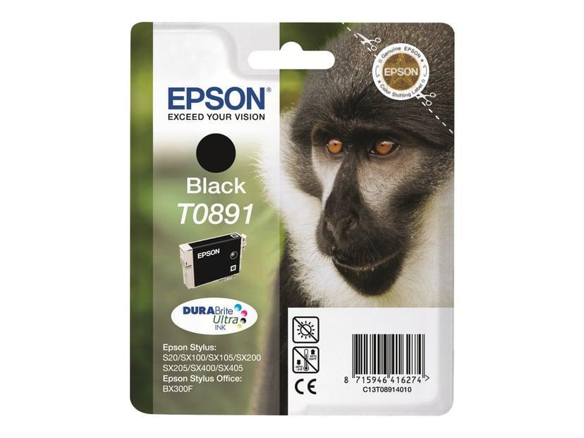 Epson Bläck Svart T0891 - STYLUS SX100/SX105