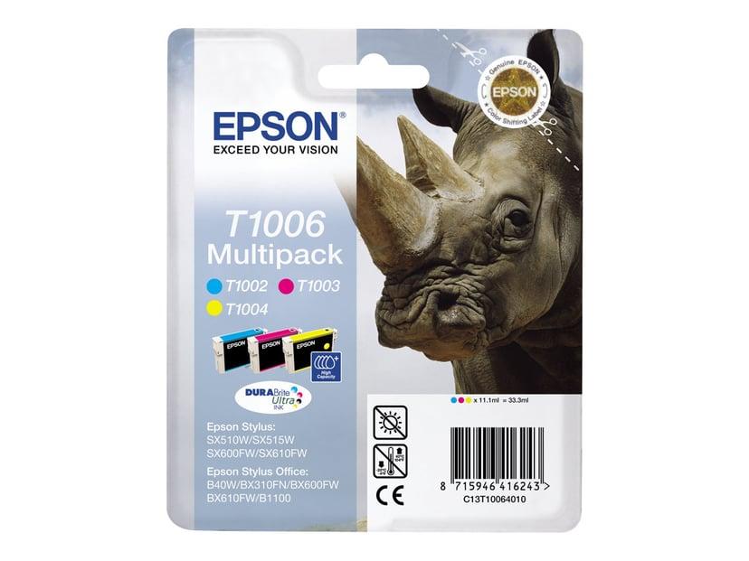 Epson Muste Monipakkaus T1006 - BX600 (C,M,Y)