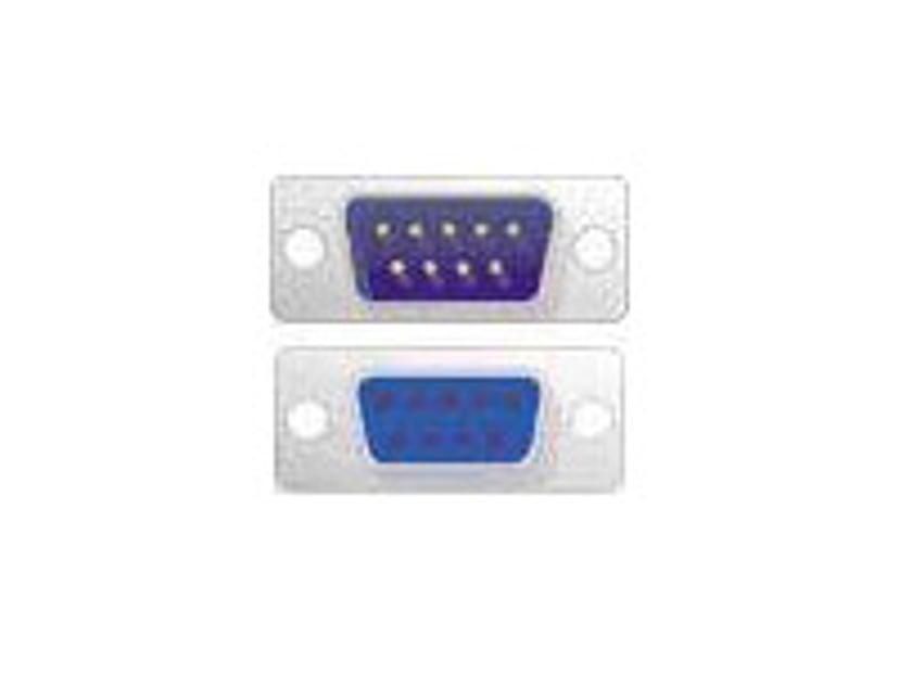 Deltaco Seriell kabel 2m 9 pin D-Sub (DB-9) Hane 9 pin D-Sub (DB-9) Hona