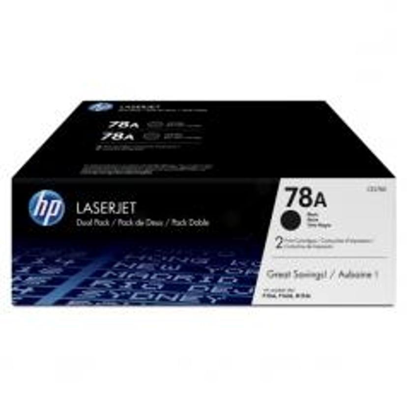 HP Toner Zwart 78A 2.1K - CE278AD 2-Pack
