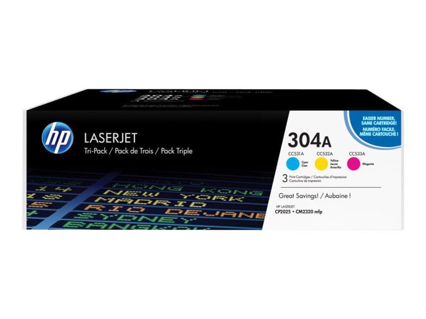 HP Toner Kit 304A (C/Y/M) 2.8K - CF372AM