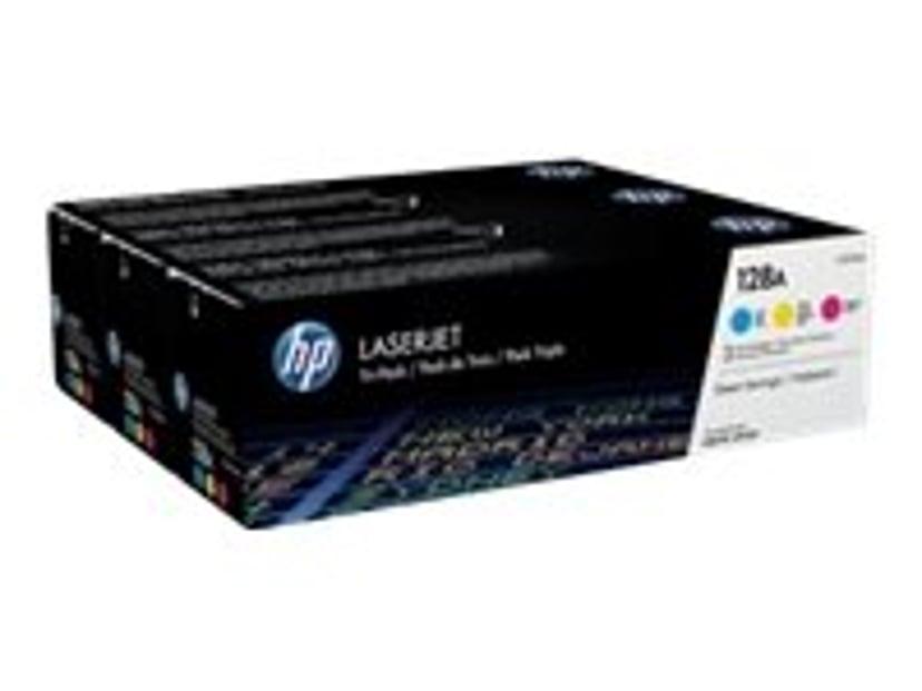 HP Toner Kit 128A (C/Y/M) 1.3K - CF371AM