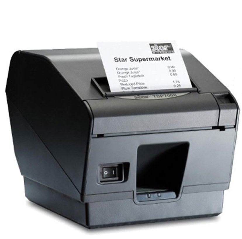 Star Kvittoskrivare TSP743UII USB Svart, Sax