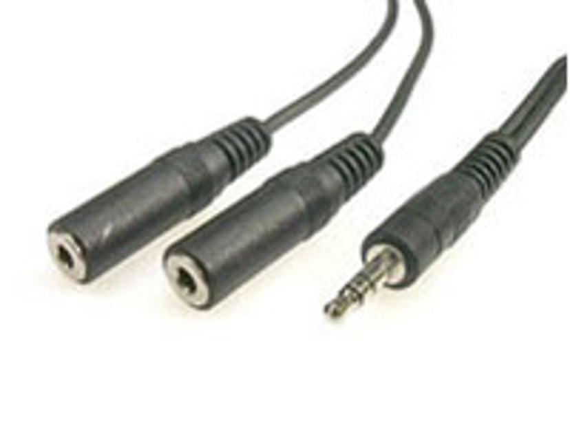 Deltaco Äänikaapeli 1.8m Mini-phone stereo 3.5 mm Uros Mini-phone stereo 3.5 mm Naaras