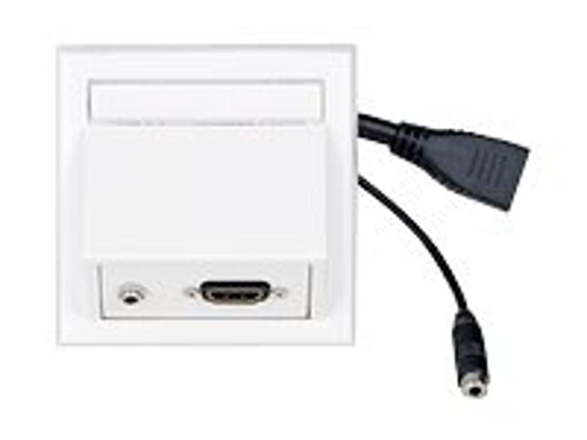 Vivolink Vägguttag HDMI + 3,5mm LJUD UTANPÅLIGGANDE