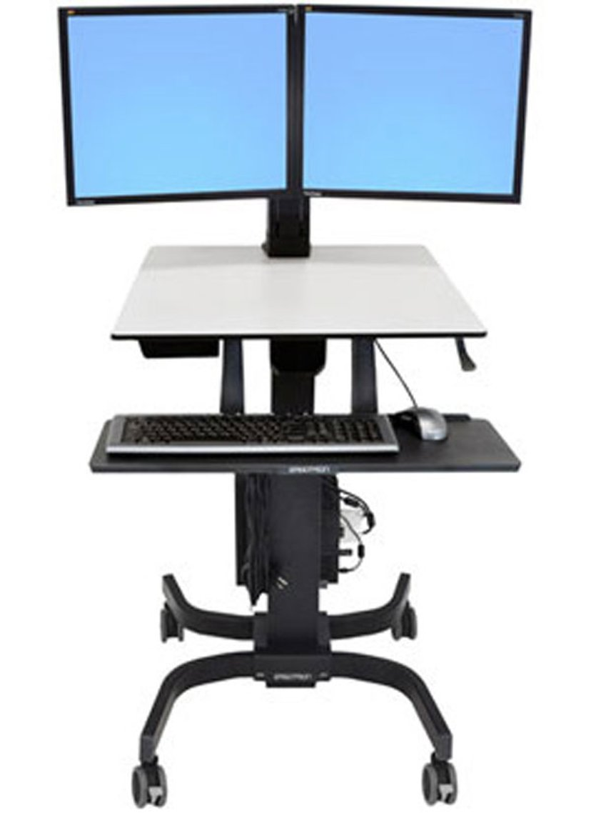 Ergotron WorkFit-C Dual Sit-Stand Workstation