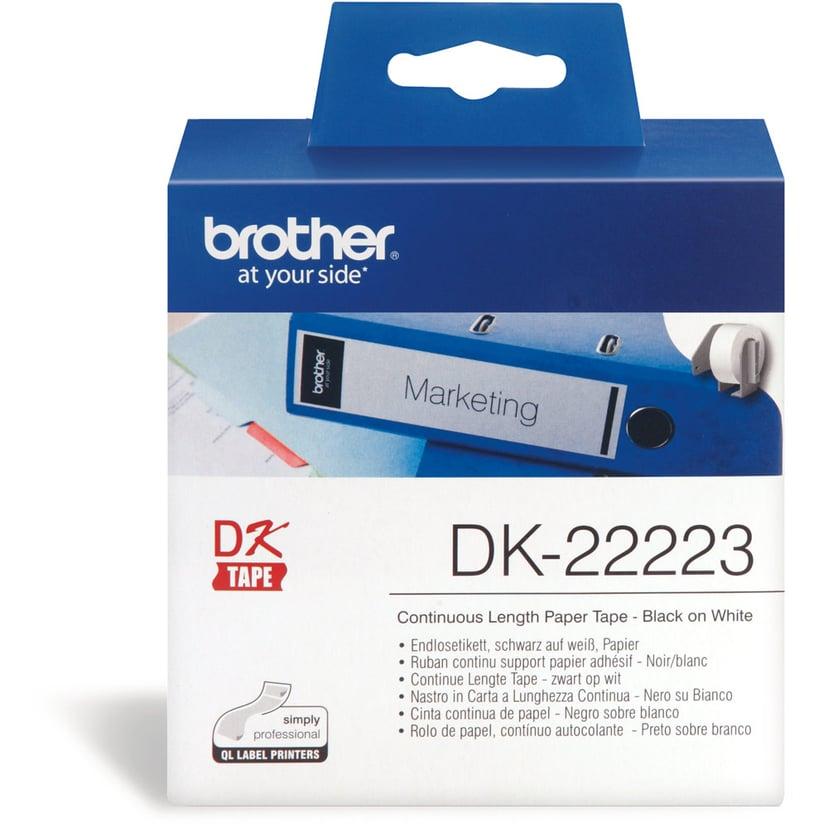 Brother Tape Papper 50mm x 30,48m Vit DK-22223