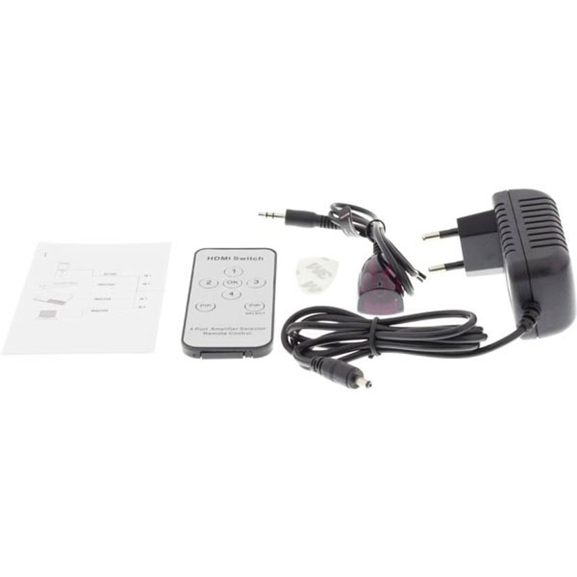 Deltaco HDMI-Switch 4X1 Manuell 4Kx2K 3D Hdcp