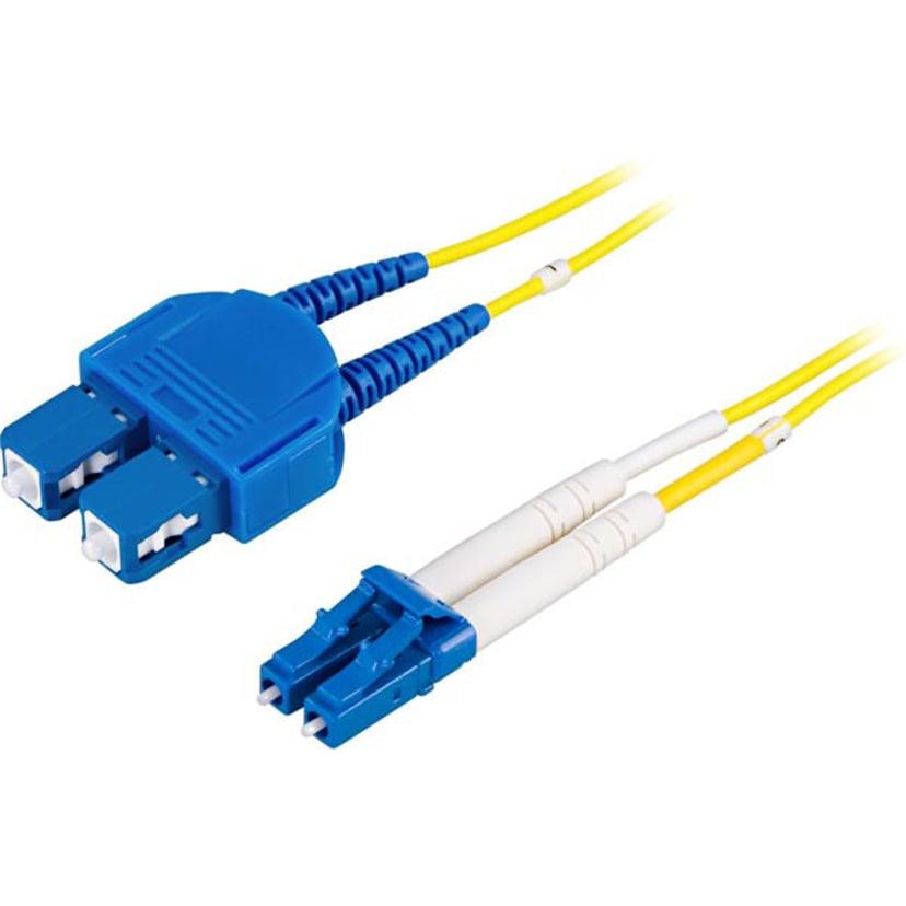 Deltaco Fiberoptisk kabel SC/PC LC/PC OS1 15m