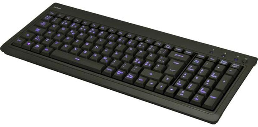 Deltaco TB-234 Kabling Tastatur Nordisk Sort