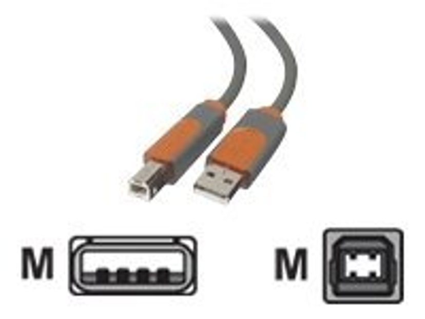 Belkin Pro Series Hi-Speed USB 2.0 Device Cable 3m 4-pins USB type A Hann 4-pins USB-type B Hann