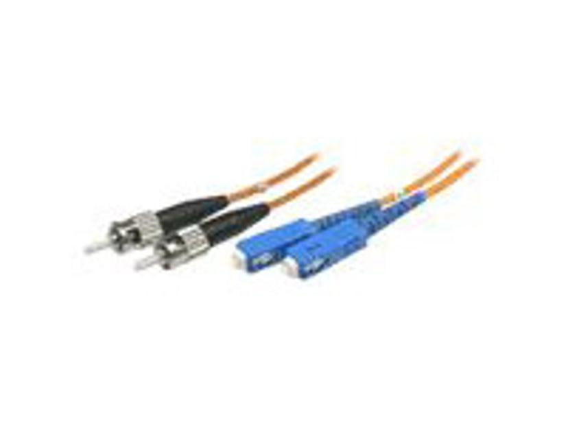 Deltaco Fiberoptisk Kabel SC/UPC ST/UPC OM1 5m