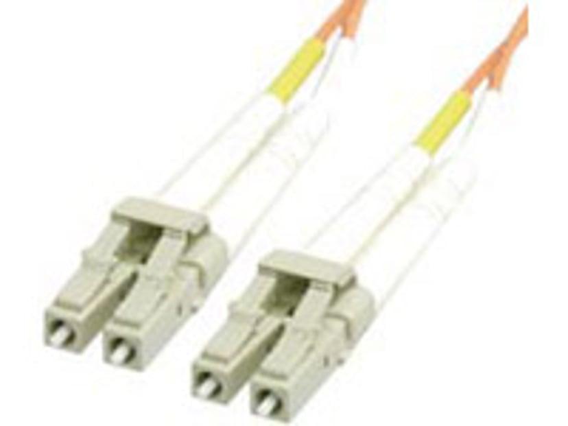 Deltaco Optisk fiberkabel LC/UPC LC/UPC OM1 1m