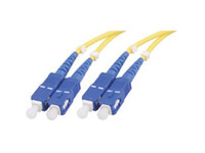 Deltaco Optisk fiberkabel SC/PC SC/PC OS2 1m